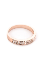Shashi Tracy Eternity Band Ring Rose Gold Clear