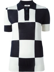 Jil Sander Checked Polo Shirt
