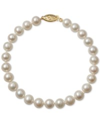 Belle De Mer Cultured Freshwater Pearl Bracelet 6Mm In 14K Gold White