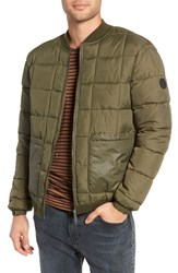 Native Youth Quilted Short Jacket Olive