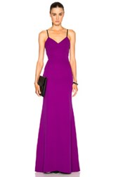 Victoria Beckham Double Crepe Camisole Gown In Purple