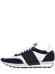 Moncler Logo Suede And Mesh Running Sneakers