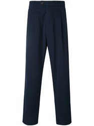 Closed Straight Cropped Trousers Men Cotton 29 Blue