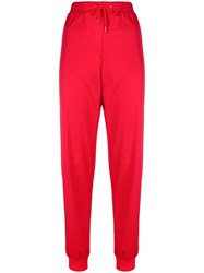 Versace Logo Track Pants Red