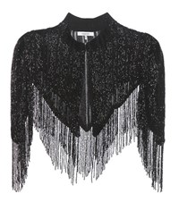 Ganni Humphrey Beaded Shawl Black