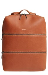 Matt And Nat Slate Faux Leather Backpack Brown Chili