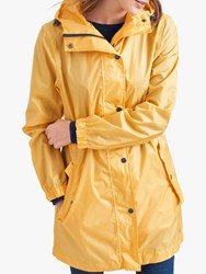 Joules Golightly Pack Away Waterproof Parka Coat Antique Gold