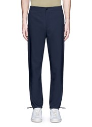 Acne Studios 'Pace' Drawstring Cuff Wool Pants Blue
