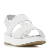 Head Over Heels Keddi White Outsole Flatform Sandals Silver