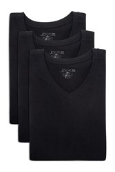 Joe's Jeans Classic Fit V Neck Tee Pack Of 3 Black