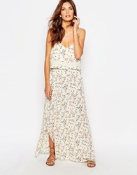 Vila Blossom Flower Layered Maxi Dress Multi