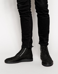 Pull And Bear Pullandbear Lace Up Ankle Boots Black