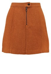New Look Mini Skirt Golden Rust Orange