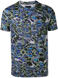 Les Hommes Printed T Shirt Green