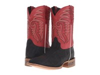 Old West Boots 60103 Black Elephant Print Boston Red Cowboy Boots Pink
