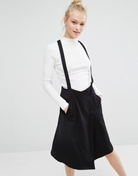 Monki Tailored Skirt With Straps Black