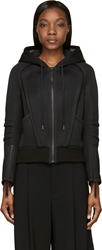 Helmut Lang Black Active Bonded Mesh Zip Up Hoodie