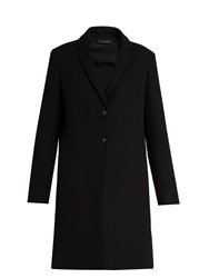 The Row Brooxi Wool Twill Coat Black