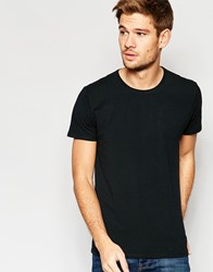 Selected Homme Crew Neck T Shirt In Pima Cotton Black