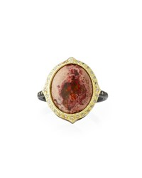 Armenta Old World Mexican Fire Opal Ring Yellow Black