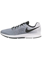 Nike Performance Air Zoom Pegasus 33 Cushioned Running Shoes Dark Grey Black White Dark Gray