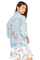 Citizens Of Humanity Embroidered Boyfriend Jacket Blue