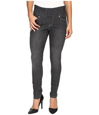Jag Jeans Petite Nora Pull On Skinny In Comfort Denim In Thunder Grey Thunder Grey Women's Gray