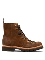 Grenson Brady Suede Hiking Boots Brown