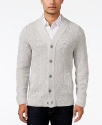 Alfani Men's Two Pocket Textured Cardigan Only At Macy's Zinc Heather Marl