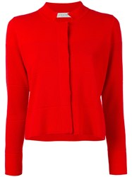 Le Tricot Perugia Fitted Jacket Women Polyester Viscose M Red
