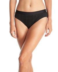 Athena Fine Line Banded Hipster Swim Bottom Black
