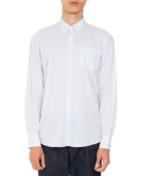 Dries Van Noten Corbin Voile Button Down Shirt Light Blue