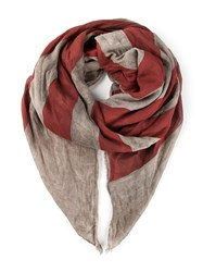 John Varvatos American Flag Distressed Print Scarf Multicolour