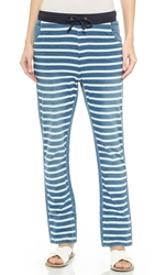Sass And Bide Facing North Striped Pants Indigo