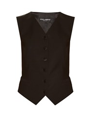 Dolce And Gabbana Satin Backed Crepe Waistcoat Black
