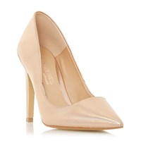Head Over Heels Addelyn Metal Heel Trim Court Shoe Rose Gold