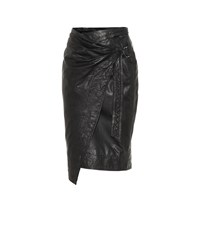 Etoile Isabel Marant Ayeni Leather Skirt Black