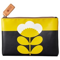 Orla Kiely Spring Flower Pouch Purse Yellow Lemon