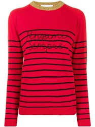 Giada Benincasa Striped Jumper Red