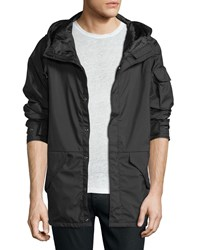 Iro Klein Hooded Anorak Jacket Black Men's