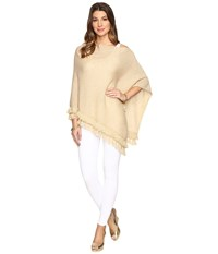 Lilly Pulitzer Limonada Cashmere Wrap Heathered Camel Metallic Women's Sweater Gold