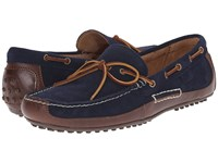Polo Ralph Lauren Wyndings Tan Newport Navy Smooth Oil Leather Sport Suede Men's Shoes
