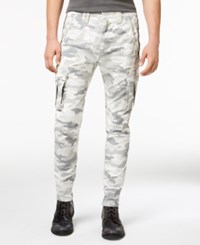Guess Men's Camo Cargo Pants Traditional Camo Snow Grey Multi