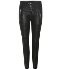 Isabel Marant Arnold Leather Leggings Black