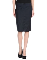 Roccobarocco Knee Length Skirts Dark Blue