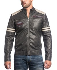Affliction Men's Rocky Road Faux Leather Moto Jacket