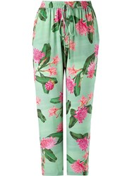 Isolda Floral Palazzo Pants Green