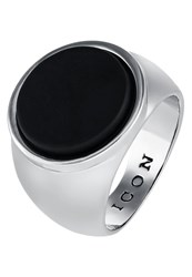 Icon Brand Atlas Ring Silvercoloured Black