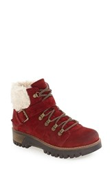 Bos. And Co. Women's 'Gail' Waterproof Platform Boot Scarlett Off White Oil Suede