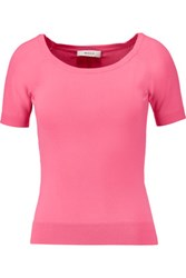 Milly Stretch Knit Top Pink
